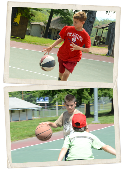 Campers Play Basketball
