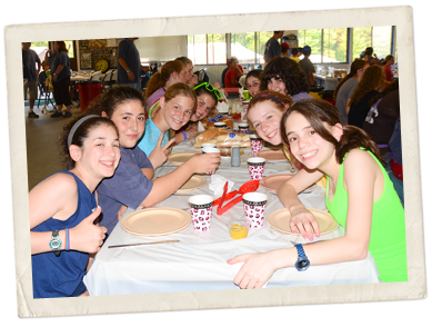 Girls Eat at Ramah
